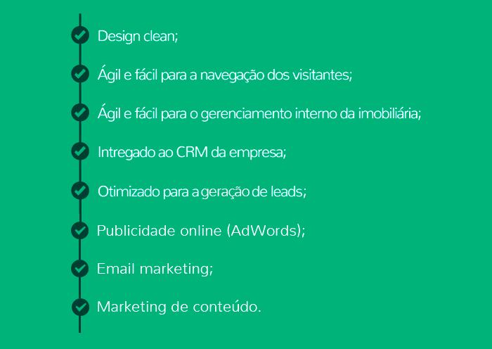 Características do novo site: